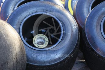 World © Octane Photographic Ltd. Formula 1 – F1 Pre-season Test 1 - Day 3. Renault Sport F1 Team RS20 rear wheels. Circuit de Barcelona-Catalunya, Spain. Friday 21st February 2020.