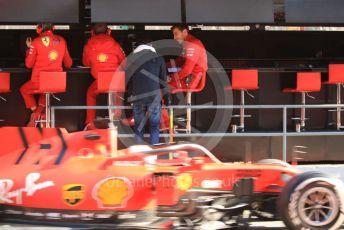World © Octane Photographic Ltd. Formula 1 – F1 Pre-season Test 1 - Day 3. Scuderia Ferrari SF1000 – Sebastian Vettel and Charles Leclerc. Circuit de Barcelona-Catalunya, Spain. Friday 21st February 2020.