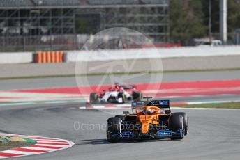 World © Octane Photographic Ltd. Formula 1 – F1 Pre-season Test 2 - Day 1. McLaren MCL35 – Carlos Sainz and Alfa Romeo Racing Orlen C39 Reserve Driver – Robert Kubica. Circuit de Barcelona-Catalunya, Spain. Wednesday 26th February 2020.