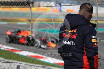 World © Octane Photographic Ltd. Formula 1 – F1 Pre-season Test 2 - Day 2. Jos Verstappen watching son Max. Circuit de Barcelona-Catalunya, Spain. Thursday 27th February 2020.