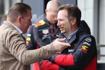 World © Octane Photographic Ltd. Formula 1 – F1 Pre-season Test 2 - Day 2. Christian Horner - Team Principal of Red Bull Racing and Jos Verstappen. Circuit de Barcelona-Catalunya, Spain. Thursday 27th February 2020.