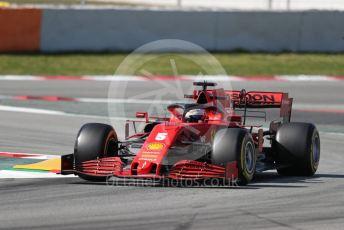 World © Octane Photographic Ltd. Formula 1 – F1 Pre-season Test 2 - Day 2. Scuderia Ferrari SF1000 – Sebastian Vettel. Circuit de Barcelona-Catalunya, Spain. Thursday 27th February 2020.