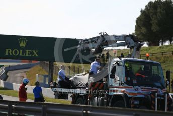 World © Octane Photographic Ltd. Formula 1 – F1 Pre-season Test 2 - Day 2. Mercedes AMG Petronas F1 W11 EQ Performance - Lewis Hamilton's car is returned to the pits after stopping on track. Circuit de Barcelona-Catalunya, Spain. Thursday 27th February 2020.