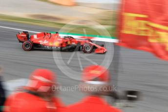 World © Octane Photographic Ltd. Formula 1 – F1 Pre-season Test 2 - Day 3. Scuderia Ferrari SF1000 – Charles Leclerc with Ferrari fans. Circuit de Barcelona-Catalunya, Spain. Friday 28th February 2020.