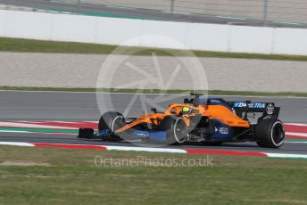 World © Octane Photographic Ltd. Formula 1 – F1 Pre-season Test 1 - Day 2. McLaren MCL35 – Lando Norris. Circuit de Barcelona-Catalunya, Spain. Thursday 20th February 2020.
