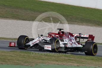 World © Octane Photographic Ltd. Formula 1 – F1 Pre-season Test 1 - Day 2. Alfa Romeo Racing Orlen C39 – Kimi Raikkonen. Circuit de Barcelona-Catalunya, Spain. Thursday 20th February 2020.