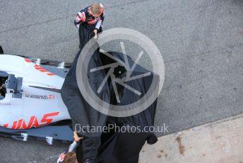 World © Octane Photographic Ltd. Formula 1 – F1 Pre-season Test 1 - Day 1. Haas F1 Team VF20 car launch. Circuit de Barcelona-Catalunya, Spain. Wednesday 19th February 2020.