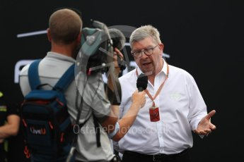 World © Octane Photographic Ltd. Formula 1 - Italian Grand Prix – FIA Formula 2 2018 Car Launch - Ross Brawn. Monza, Italy. Thursday 31st August 2017. Digital Ref: 1936LB1D0463