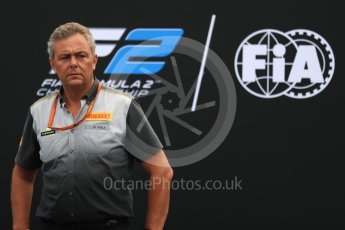 World © Octane Photographic Ltd. Formula 1 - Italian Grand Prix – FIA Formula 2 2018 Car Launch - Mario Isola. Monza, Italy. Thursday 31st August 2017. Digital Ref: 1936LB1D0487