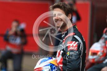 World © Octane Photographic Ltd. Formula 1 winter test 1, Haas F1 Team VF-17 physical unveil - Romain Grosjean, Circuit de Barcelona-Catalunya. Monday 27th February 2017. Digital Ref : 17779LB1D8185