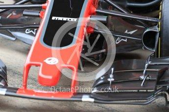 World © Octane Photographic Ltd. Formula 1 winter test 1, Haas F1 Team VF-17 physical unveil, Circuit de Barcelona-Catalunya. Monday 27th February 2017. Digital Ref : 17779LB1D8198