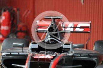 World © Octane Photographic Ltd. Formula 1 winter test 1, Haas F1 Team VF-17 physical unveil, Circuit de Barcelona-Catalunya. Monday 27th February 2017. Digital Ref : 17779LB1D8205