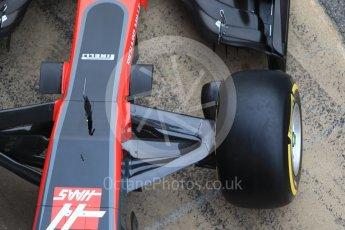 World © Octane Photographic Ltd. Formula 1 winter test 1, Haas F1 Team VF-17 physical unveil, Circuit de Barcelona-Catalunya. Monday 27th February 2017. Digital Ref : 1779CB1D5923