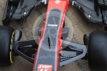 World © Octane Photographic Ltd. Formula 1 winter test 1, Haas F1 Team VF-17 physical unveil, Circuit de Barcelona-Catalunya. Monday 27th February 2017. Digital Ref : 1779CB1D5925
