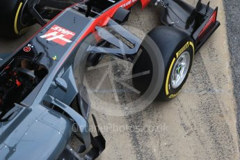 World © Octane Photographic Ltd. Formula 1 winter test 1, Haas F1 Team VF-17 physical unveil, Circuit de Barcelona-Catalunya. Monday 27th February 2017. Digital Ref : 1779CB1D5941
