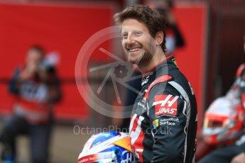 World © Octane Photographic Ltd. Formula 1 winter test 1, Haas F1 Team VF-17 physical unveil - Romain Grosjean, Circuit de Barcelona-Catalunya. Monday 27th February 2017. Digital Ref : 1779LB1D8185