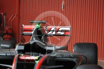 World © Octane Photographic Ltd. Formula 1 winter test 1, Haas F1 Team VF-17 physical unveil ,Circuit de Barcelona-Catalunya. Monday 27th February 2017. Digital Ref : 1779LB1D8193