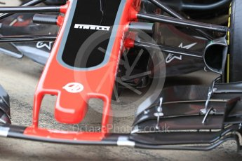 World © Octane Photographic Ltd. Formula 1 winter test 1, Haas F1 Team VF-17 physical unveil, Circuit de Barcelona-Catalunya. Monday 27th February 2017. Digital Ref : 1779LB1D8198