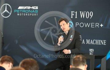 World © Octane Photographic Ltd. Formula 1 –. Mercedes AMG Petronas Motorsport AMG F1 W09 EQ Power+ launch, Toto Wolff (Team Principal and CEO) – Silverstone, UK. Thursday 22nd February 2018. Digital Ref : 2020CB1D7821