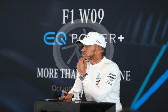 World © Octane Photographic Ltd. Formula 1 –. Mercedes AMG Petronas Motorsport AMG F1 W09 EQ Power+ launch, Lewis Hamilton – Silverstone, UK. Thursday 22nd February 2018. Digital Ref : 2020LB1D7927