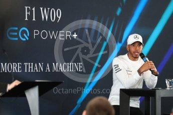 World © Octane Photographic Ltd. Formula 1 –. Mercedes AMG Petronas Motorsport AMG F1 W09 EQ Power+ launch, Lewis Hamilton – Silverstone, UK. Thursday 22nd February 2018. Digital Ref : 2020LB1D7947