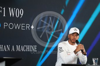 World © Octane Photographic Ltd. Formula 1 –. Mercedes AMG Petronas Motorsport AMG F1 W09 EQ Power+ launch, Lewis Hamilton – Silverstone, UK. Thursday 22nd February 2018. Digital Ref : 2020LB1D7952