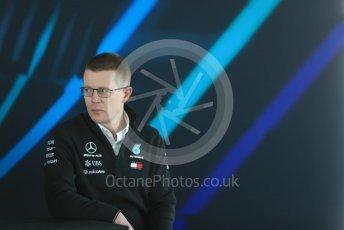 World © Octane Photographic Ltd. Formula 1 –. Mercedes AMG Petronas Motorsport AMG F1 W09 EQ Power+ launch, Andy Cowell (Managing Director of Mercedes AMG High Performance Powertrains) – Silverstone, UK. Thursday 22nd February 2018. Digital Ref : 2020LB1D8298