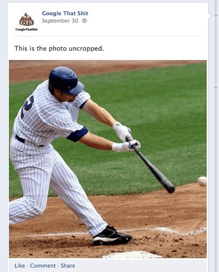 cropped baseball swing