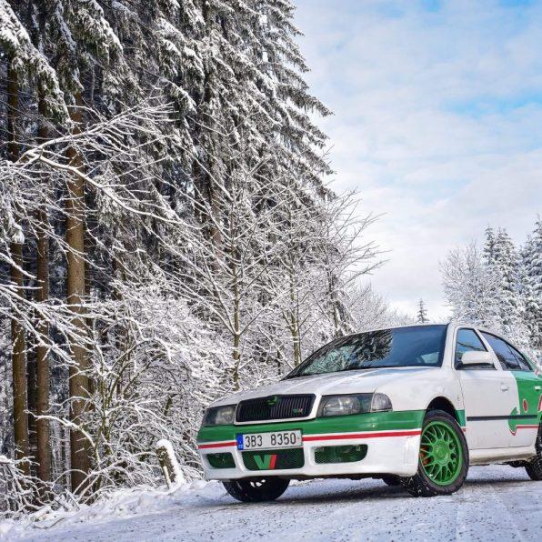 Skoda Octavia I RS v zimě