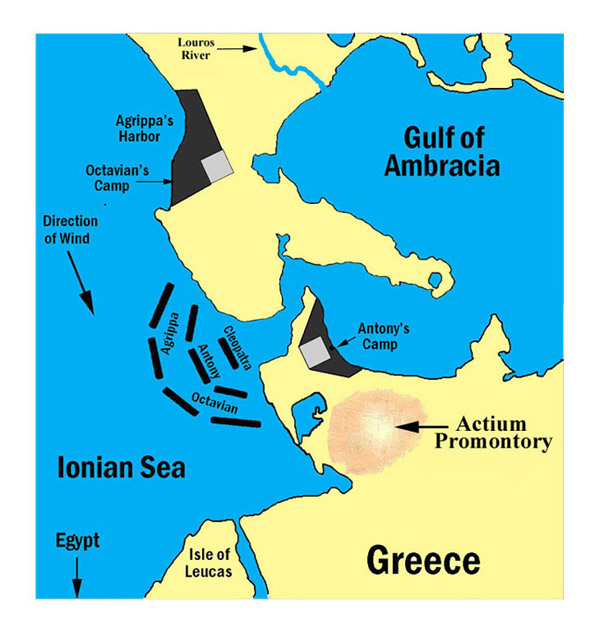 Today In Mediterranean History The Battle Of Preveza And - Ancient rome map battle sites