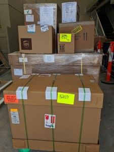 New laboratory equipment ready for installation