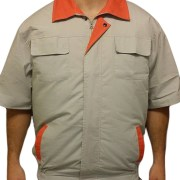 Light Gray Orange Air Conditioned Clothing 2