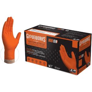 Gloveworks Orange Nitrile Gloves Case of 5