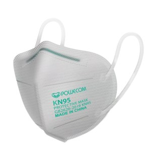 White Powecom KN95 Protective Face Mask Respirator