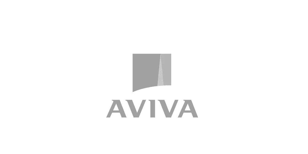 This is a grey-scale logo of Aviva as an example of a client who used Octopus Competitive Intelligence, Due Diligence, Competitor Analysis, Market Analysis, Competitor Research and Strategic Business Development to beat your competitors, increase sales and reduce risk