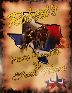 Roberts Steak House Menu Cover