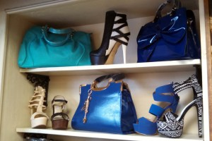 shoes and purses at Luv Lingerie
