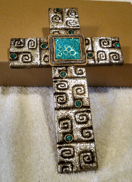 Blinged out cross
