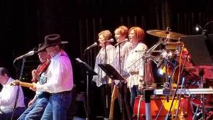 The Granger sisters, Bonita and Linda sang backup with Sheryl Brocato at the Charlie Pruitt Country Music Show Reunion.