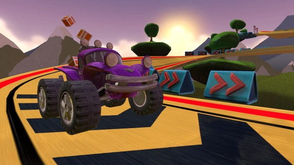 Cargo Racing VR game screenshot courtesy Oculus