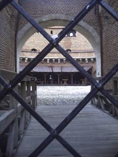 Wnętrze Barbakanu w Krakowie