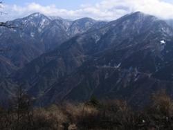 蛭ヶ岳と檜洞丸の展望好し
