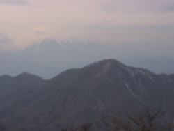 富士山が消えかかっている