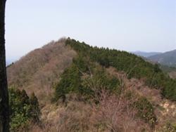 正面に見える山に登る
