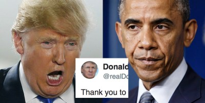 Trump tweet and Obama