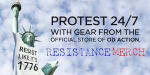 Protest 24/7 with gear from the official store of OD Action - Resistance Merch
