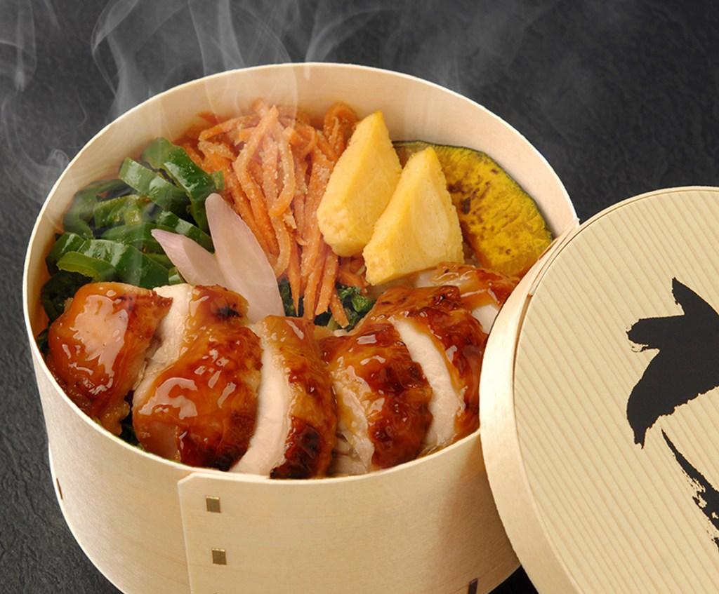 小田原わっぱや 定番わっぱ たっぷり野菜と鶏照り焼き
