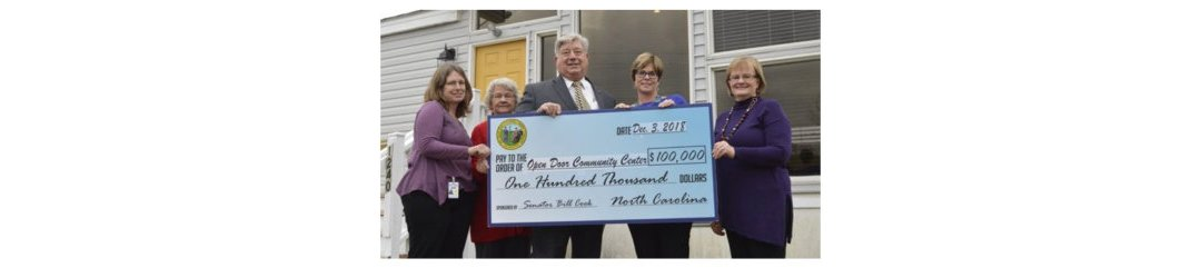Open Door Community Center receives $100,000 from General Assembly
