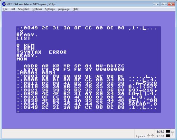 machine code monitor