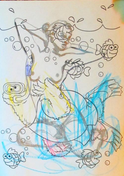 """Art Time, Mama (Cookie Swimming)"" © Sally Deskins"